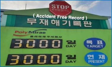 Achievement of 3,000 Accident-Free Days